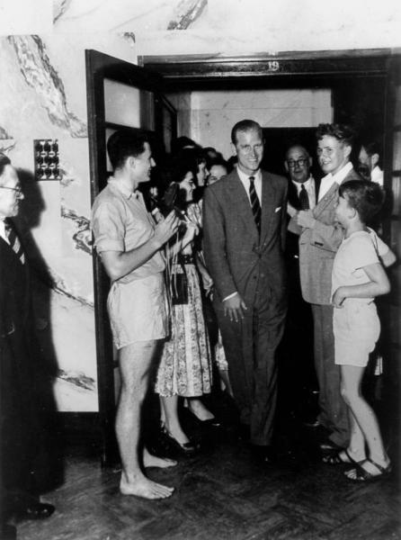 StateLibQld_1_204880_Greeting_Prince_Philip,_Duke_of_Edinburgh,_during_the_royal_visit_in_1954
