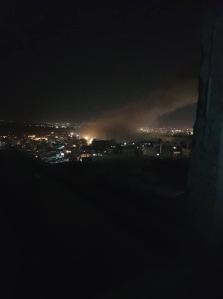 PHOTO: Unconfirmed image of smoke rising from research facility near Damascus - @AlSuraEnglish